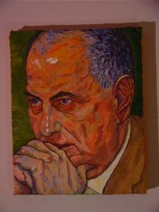 Nibras Kazimi 'Portrait of Ahmad Chalabi' Sept 2003 11'' x 14''